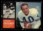 1962 Topps #26   Howard Cassady Front Thumbnail