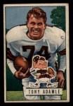 1951 Bowman #110   Tony Adamle Front Thumbnail