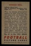 1951 Bowman #61  Donald Doll  Back Thumbnail