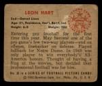 1950 Bowman #38  Leon Hart  Back Thumbnail