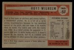 1954 Bowman #57  Hoyt Wilhelm  Back Thumbnail