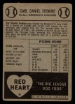 1954 Red Heart #6   Carl Erskine   Back Thumbnail