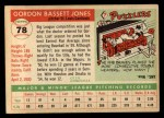 1955 Topps #78  Gordon Jones  Back Thumbnail