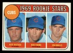 1969 Topps #602 COR Cubs Rookies  -  Alec Distaso / Don Young / Jim Qualls Front Thumbnail