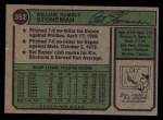 1974 Topps #352   Bill Stoneman Back Thumbnail