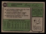 1974 Topps #366  Larry Hisle  Back Thumbnail