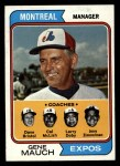 1974 Topps #531  Expos Leaders   -  Gene Mauch / Dave Bristol / Larry Doby / Cal McLish / Jerry Zimmerman Front Thumbnail