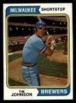1974 Topps #554   Tim Johnson Front Thumbnail