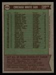 1976 Topps #656  White Sox Team Checklist  -  Chuck Tanner Back Thumbnail