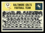 1964 Philadelphia #13  Colts Team  Front Thumbnail
