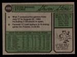 1974 Topps #486   Steve Stone Back Thumbnail