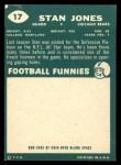 1960 Topps #17  Stan Jones  Back Thumbnail