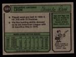1974 Topps #501   Eddie Leon Back Thumbnail