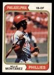 1974 Topps #515  Willie Montanez  Front Thumbnail