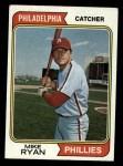 1974 #564  Mike Ryan  Front Thumbnail