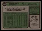 1974 Topps #497   Bobby Mitchell Back Thumbnail