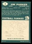1960 Topps #5   Jim Parker Back Thumbnail