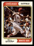 1974 Topps #519  Bill Sharp  Front Thumbnail