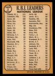 1968 Topps #3  1967 NL RBI Leaders  -  Hank Aaron / Orlando Cepeda / Roberto Clemente Back Thumbnail