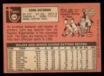 1969 Topps #138   John Bateman Back Thumbnail