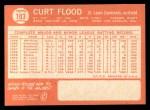 1964 Topps #103   Curt Flood Back Thumbnail
