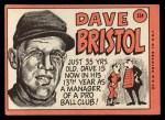 1969 Topps #234  Dave Bristol  Back Thumbnail