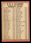 1969 Topps #7  1968 AL ERA Leaders  -  Luis Tiant / Sam McDowell / Dave McNally Back Thumbnail