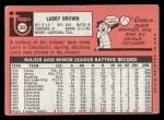 1969 Topps #503   Larry Brown Back Thumbnail