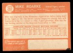 1964 Topps #292   Mike Roarke Back Thumbnail