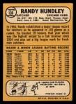 1968 Topps #136  Randy Hundley  Back Thumbnail