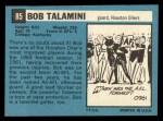 1964 Topps #85  Bob Talamini  Back Thumbnail