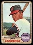 1968 Topps #102  Jose Cardenal  Front Thumbnail