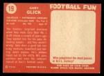 1958 Topps #19  Gary Glick  Back Thumbnail