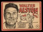 1969 Topps #24 COR  Walter Alston Back Thumbnail