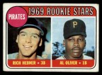 1969 Topps #82   -  Rich Hebner / Al Oliver Pirates Rookies Front Thumbnail