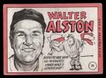 1969 Topps #24 ERR Walter Alston    Back Thumbnail