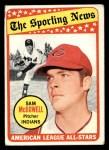 1969 Topps #435   -  Sam McDowell All-Star Front Thumbnail