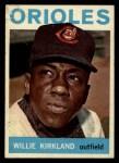 1964 Topps #17   Willie Kirkland Front Thumbnail