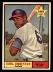 1961 Topps #343   Earl Robinson Front Thumbnail