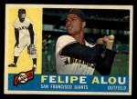 1960 Topps #287   Felipe Alou Front Thumbnail