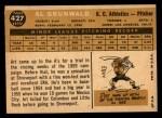 1960 Topps #427   Al Grunwald Back Thumbnail