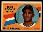 1960 Topps #140  Rookies  -  Julio Navarro Front Thumbnail