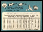 1965 Topps #247  Wally Moon  Back Thumbnail
