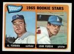 1965 Topps #331  Dodgers Rookies  -  Al Ferrara / John Purdin Front Thumbnail