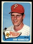 1965 Topps #534   John Hernstein Front Thumbnail
