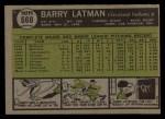 1961 Topps #560   Barry Latman Back Thumbnail