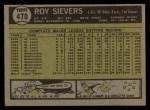 1961 Topps #470  Roy Sievers  Back Thumbnail