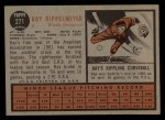 1962 Topps #271  Ray Rippelmeyer  Back Thumbnail