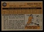 1960 Topps #190  Gene Woodling  Back Thumbnail