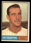 1961 Topps #241   Al Cicotte Front Thumbnail